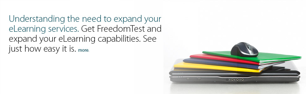 Get FreedomTestfor your online eLearning managment system